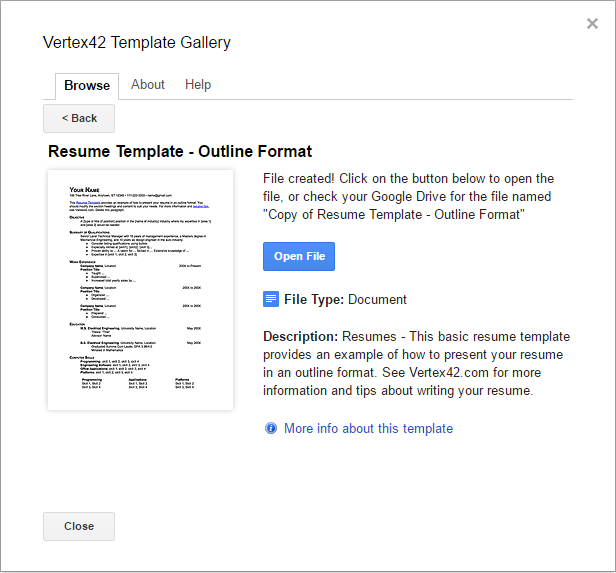Google Docs Resume Template  Free Resume Templates For Google Docs