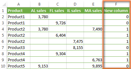 Create an additional column on which the conditional formatting rule ...