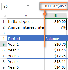 how to put compound interest formula in calculator