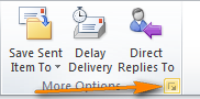 Click the Message Options Dialog Box Launcher in the lower corner.
