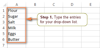 how to create dropdown value in excel sheet