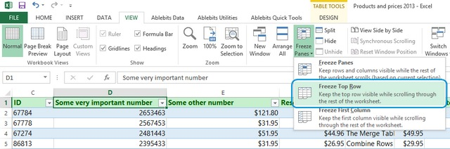 How To Keep Header Rows In Excel Visible