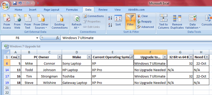 advanced filter in excel 2007 pdf