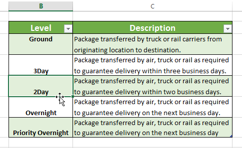 how to create a link in excel to another tab