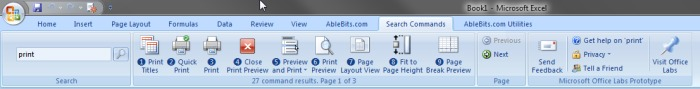 Use Search Commands add-in to find teh neccessary button on the Ribbon