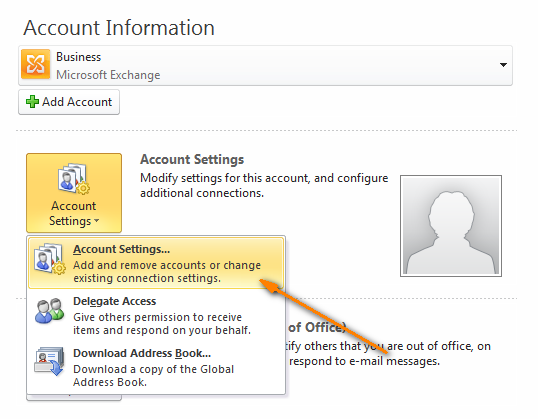 Look under Account Settings for more information about your email accounts
