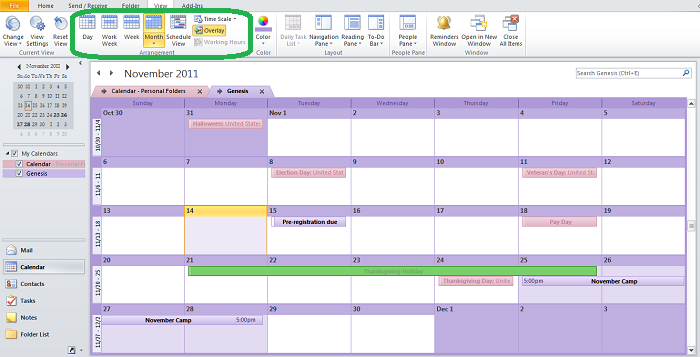 Editable Calendar View : Customize your outlook calendar so that it s all about you