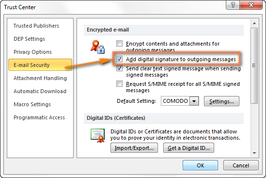 outlook digital signature  u2013 quick way to send secure emails