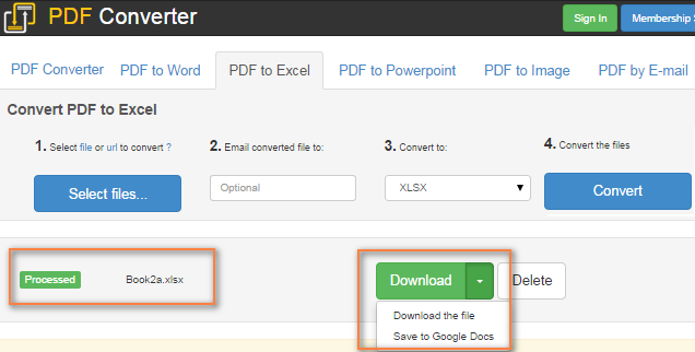 Convert pdf to excel freeware online
