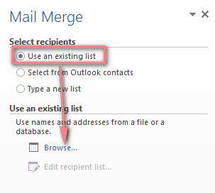 how to create mail labels from a excel list