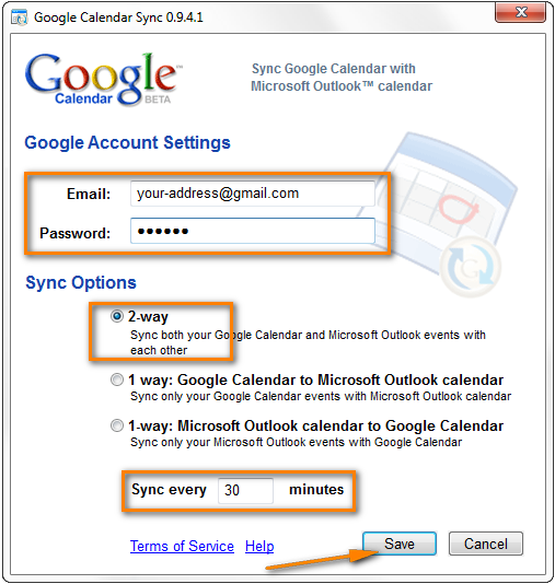 Syncing Outlook and Google calendars using Google Calendar Sync
