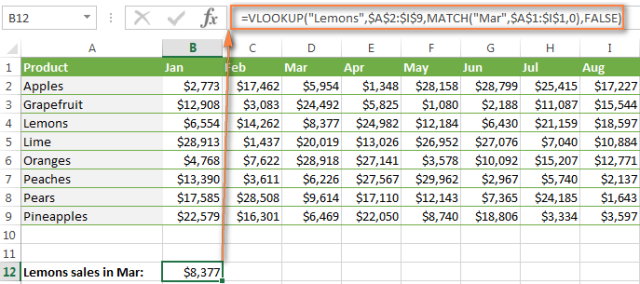 vlookup second value