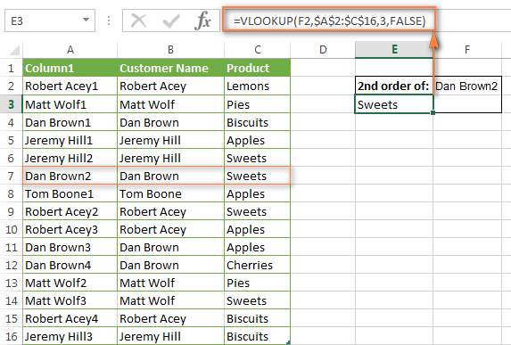 vlookup from another worksheet