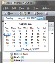 Your custom .NET control on the Outlook toolbar