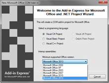 Create an add-in for Office 2000-2013 with a single code base