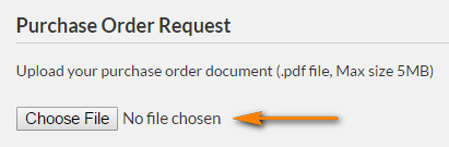 Attach your PO document in the Purchase Order Request section