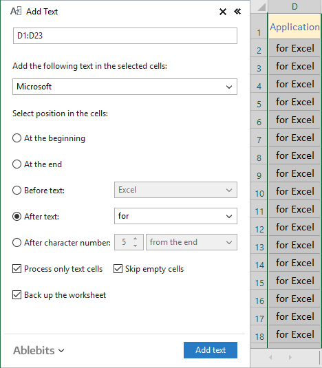 Excel Add Suffix To All Cells In Column - add text in ...