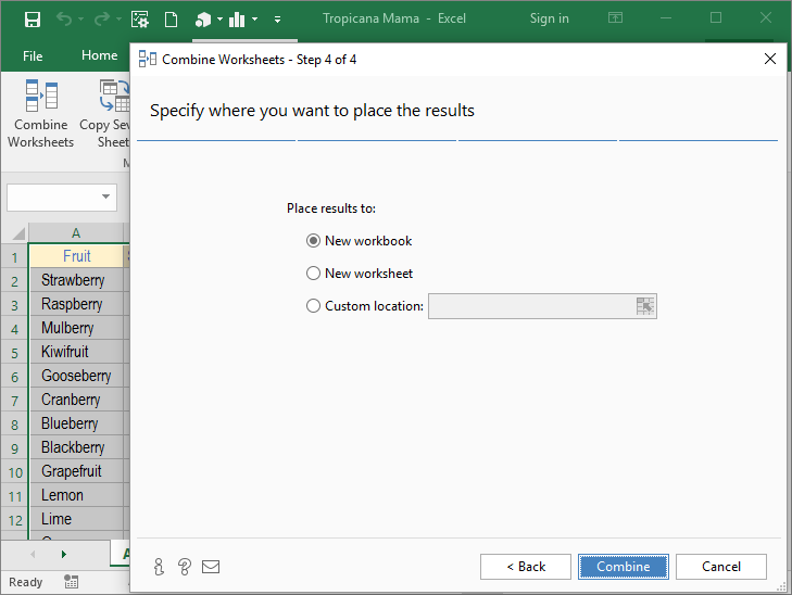 Merge multiple Excel worksheets into 1 - Consolidate ...