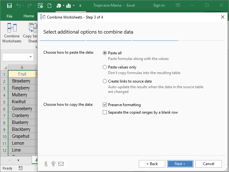 Add-ins for Excel 2016, 2013 - 2003 - merge worksheets, remove ...