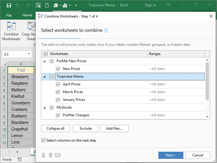 Merge multiple Excel worksheets into 1 Consolidate Worksheets – Combine Multiple Excel Files into One Worksheet