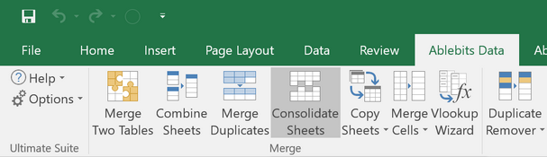 Consolidate data from multiple worksheets into a single sheet