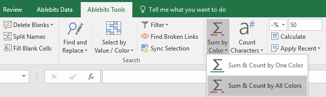 Run the add-in by clicking on its icon in Excel