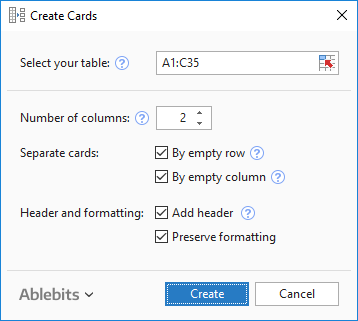how to set up an excel spreadsheet for mailing labels