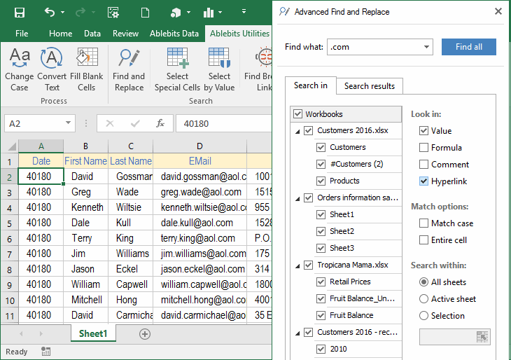 Ablebits.com Ultimate Suite for Excel - 40+ professional tools to do your daily work