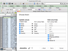 Combine data with Merge Two Tables app for MAC
