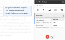 Use bookmarks as a guide through the document