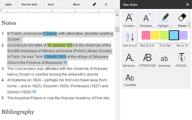 Add ons for google docs ablebitscom for Google docs add highlight