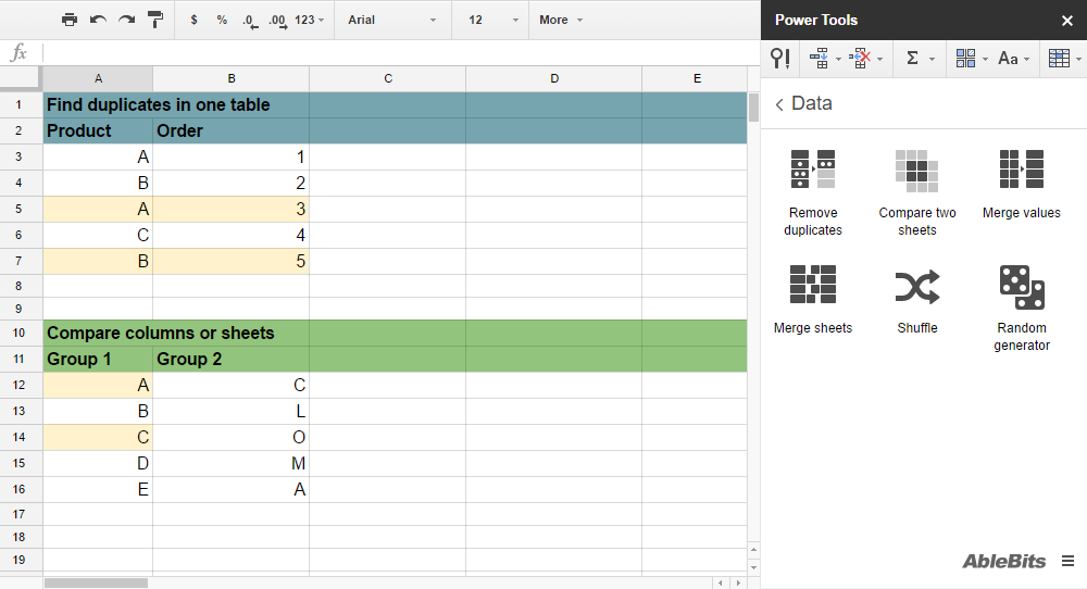 power tools add on for google sheets