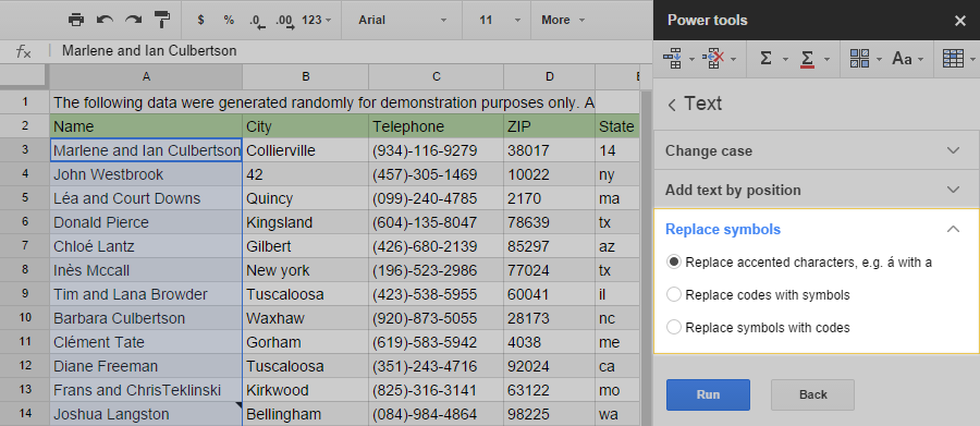 Process Text In Google Sheets