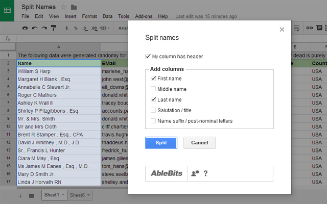 how to create several row headers in google sheets