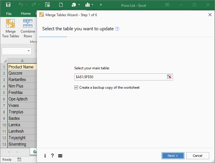 Merge Excel worksheets by matching data in seconds – Combine Excel Worksheets into One
