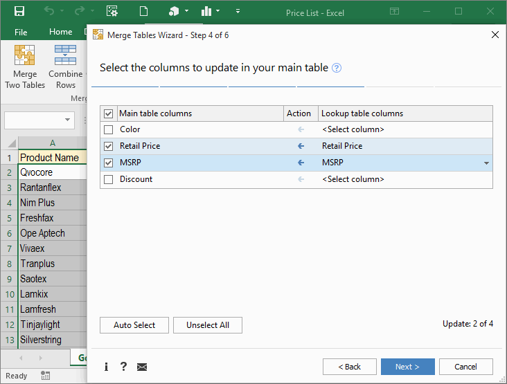 Ediblewildsus  Remarkable Merge Excel Worksheets By Matching Data In Seconds With Extraordinary Select The Columns That Will Be Updated In Your Main Table With Captivating Excel Hide Cells Also Data Analysis In Excel  In Addition Excel Quartile Function And How To Create A Schedule In Excel As Well As Word Excel For Mac Additionally How To Calculate Net Present Value In Excel From Ablebitscom With Ediblewildsus  Extraordinary Merge Excel Worksheets By Matching Data In Seconds With Captivating Select The Columns That Will Be Updated In Your Main Table And Remarkable Excel Hide Cells Also Data Analysis In Excel  In Addition Excel Quartile Function From Ablebitscom