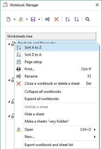 Select the sorting option that suits you from the context menu
