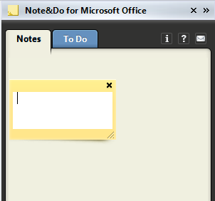 Double-click on the pane to create a note