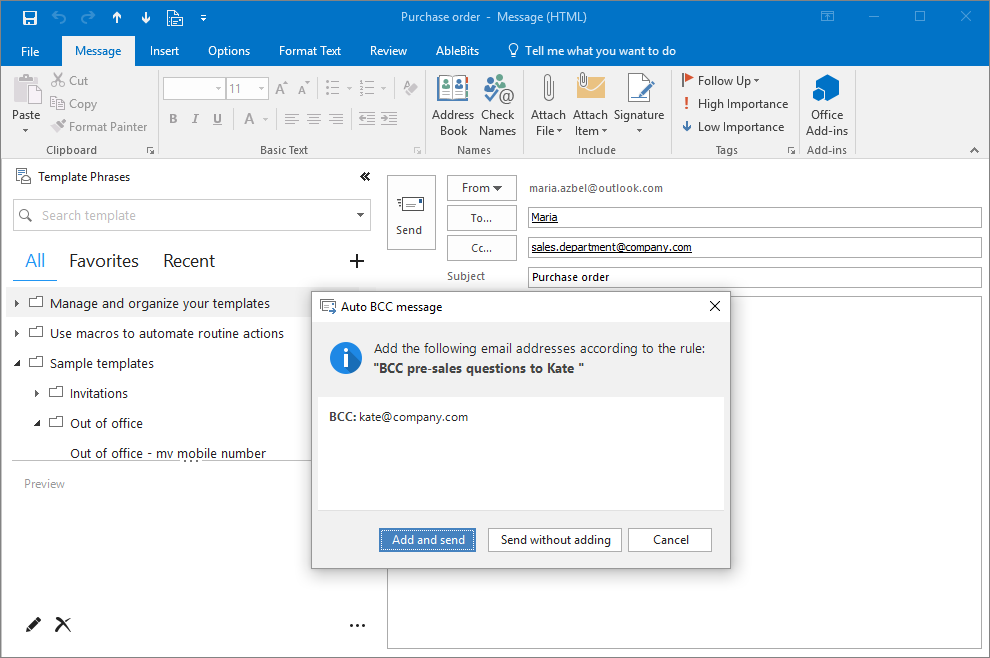 Add-ins Collection for Microsoft Outlook 2019-2007