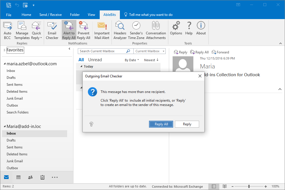 Plug ins for outlook 2016 2013 2007 automatically bcc reply with outgoing email maxwellsz
