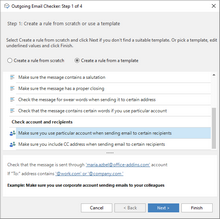 Make sure you use the right account in Outlook