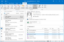 See all conversation-related attachments on one pane in Outlook 2016-2007