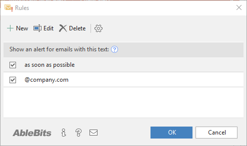 Add alert text in a click