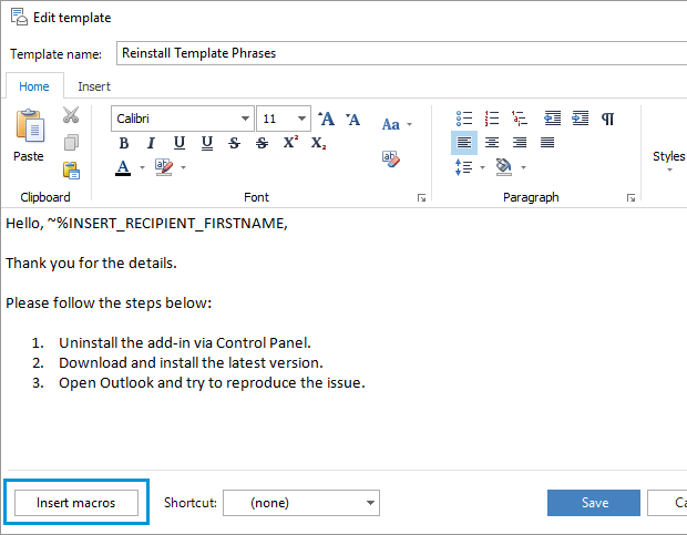 Create a template in outlook 2016 2013 2007 with for How to open outlook template