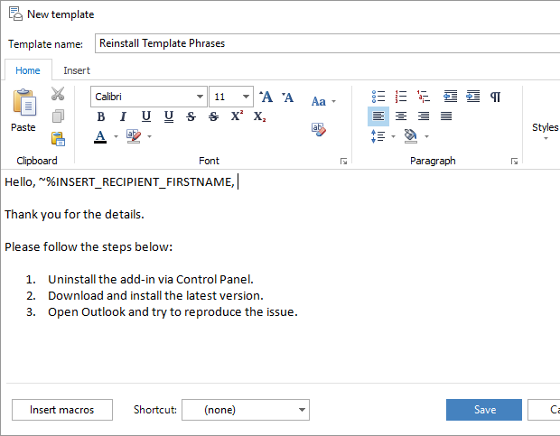 how to open email template in outlook 2016