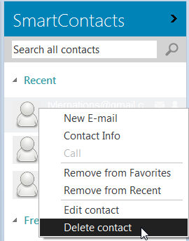 Delete the address from Outlook contacts
