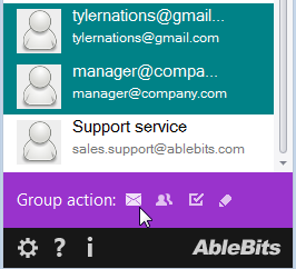 Click on the email icon to create a message to all recipients