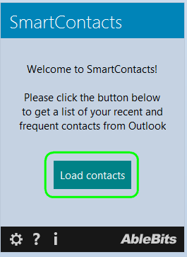 Click Load Contacts to fill in the contact list