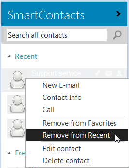 You can ignore an address in the Smart Contact list