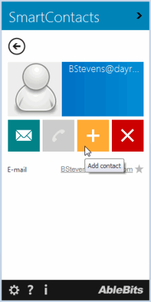 Add recently used contacts to Outlook